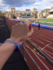 Franklin Field BlueWristband selfie