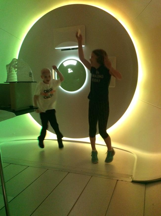 Disco in the Proton Therapy Room